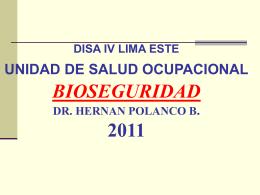 Bioseguridad - DESA DISA IV LE