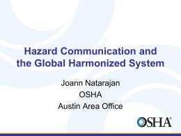 Hazard Communication and the Global Harmonized System