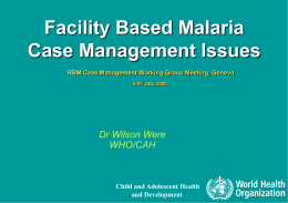 Guidelines for the treatment of malaria