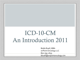 ICD-10-CM – Everything You Need to Know … For Now