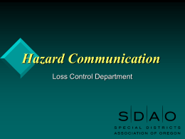 Hazard Communication - Ashland School District