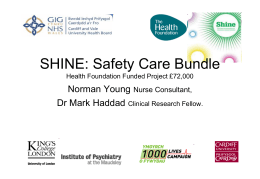 SHINE: Safety Care Bundle - Royal College of Nursing