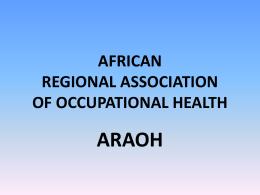 AFRICA REGIONAL ASSOCIATION OF OCCUPATIONAL …