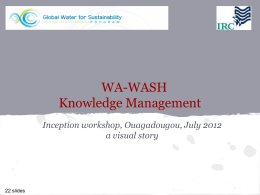 WA-WASH Knowledge Management