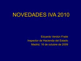 Novedades IVA 2008/2009