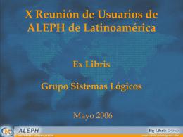 Novedades GSL-Ex Libris (2003)
