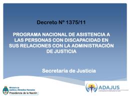 DECRETO PRESIDENCIAL 1375/2011