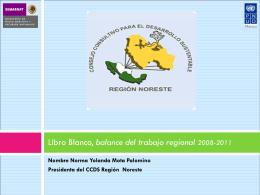Libro Blanco, balance del trabajo regional