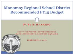 Budget - Monomoy Regional High School