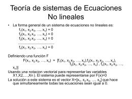 Teoria de sistemas de Ecuaciones No lineales