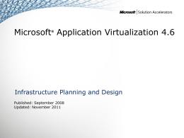 IPD - Microsoft Application Virtualization 4.6 version 2.1