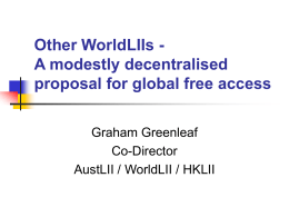 Other WorldLIIs - A modestly decentralised proposal for