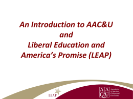 An Introduction to AAC&U and Liberal Education and …
