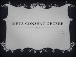 Meta Consent Decree