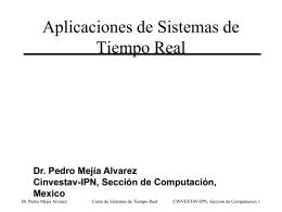 Aplicaciones de los Sistemas de Tiempo Real.