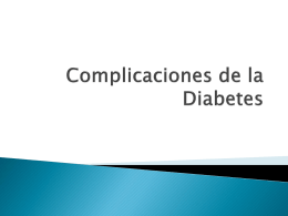 Compliacations in Diabetes