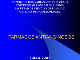 FARMACOS ANTIANGINOSOS