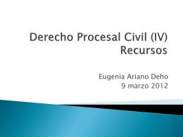 Derecho Procesal Civil (IV) Recursos