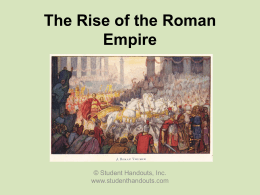 The Rise and Fall of the Roman Empire (30 BCE