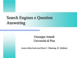 Search Engines e Question Answering