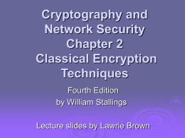 Cryptography and Network Security 4/e