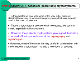 CHAPTER 4: Classical (secret