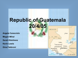 Republic of Guatemala - University of Dayton