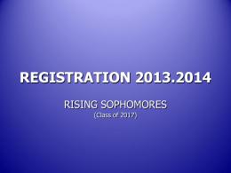 REGISTRATION 2012-13