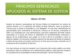 PRINCIPIO GERENCIALES APLICADOS AL SISTEMA DE …