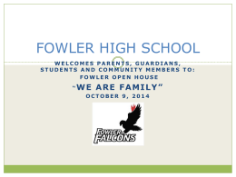 FOWLER HIGH SCHOOL - Syracuse City School District
