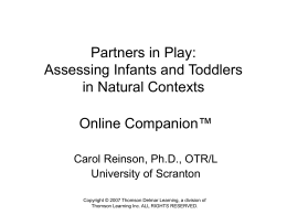 Partners in Play: Assessing Infants and Toddlers in