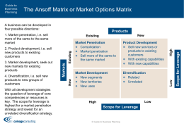 Market Options Matrix - Guide to Business Planning
