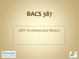 BACS 387 - University of Northern Colorado