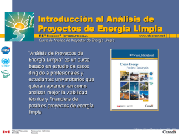 Introduction to Renewable Energy Project Analysis