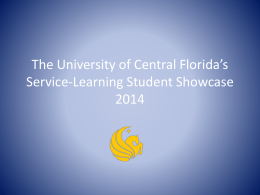 Service-Learning Student Showcase 2014