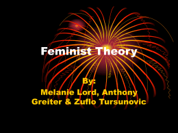 Feminist Theory - ppt - Department of Sociology