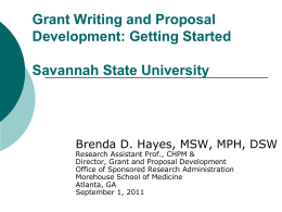 Grant Writing and Proposal Development: New …