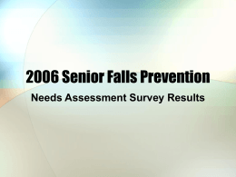 2006 Senior Falls Prevention
