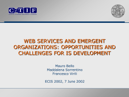 Web services and emergent organizations