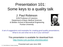 Presentation 101 for Graduate Students