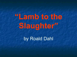 "Lamb to the Slaughter"" - SchoolWorld an Edline Solution"