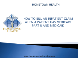 INPATIENT MEDICARE PART B BILLING