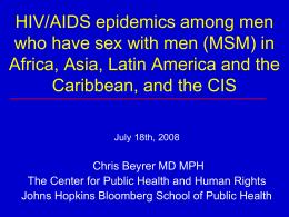 HIV/AIDS Among MSM