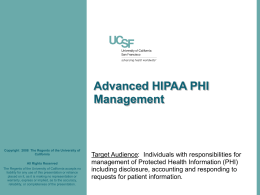 HIPAA Education Materials Module #3: Staff with Access to