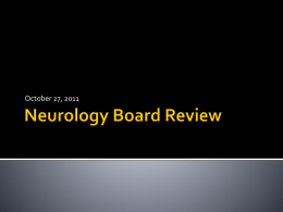 Neurology Board Review