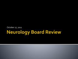 Neurology Board Review