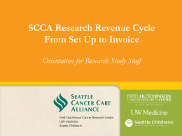 SCCA PowerPoint Template - Seattle Cancer Care Alliance