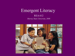 Emergent Literacy - Murray State University