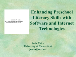 Enhancing Preschool Literacy Skills with Software and