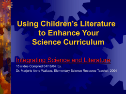 Using Children's Literature to Enhance Your Science …